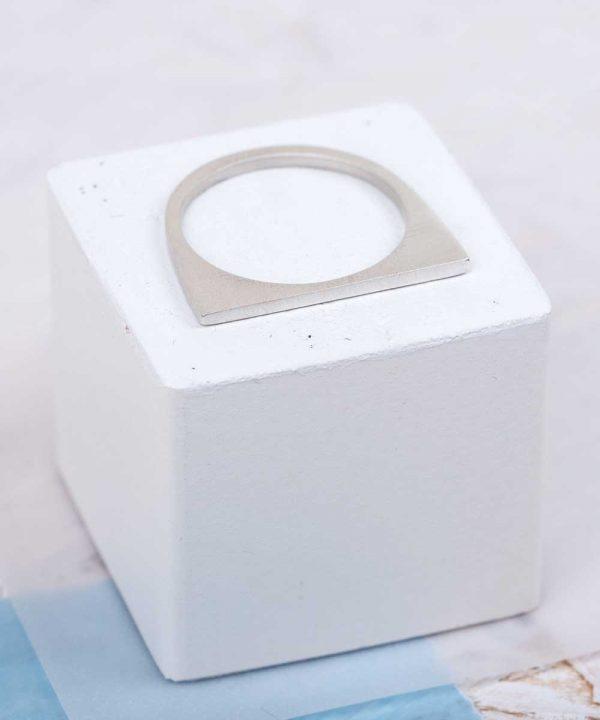 Tiny Geometric Stacker Ring