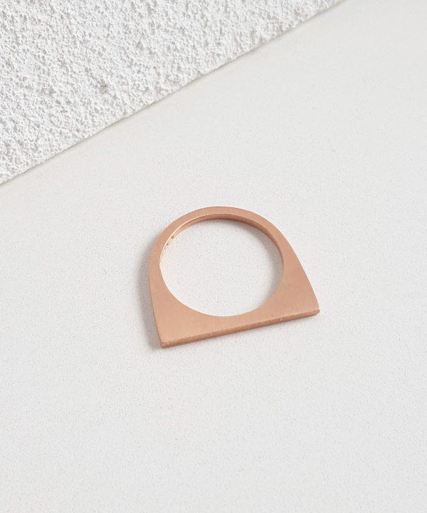 Tiny Geometric Stacking Rose Gold