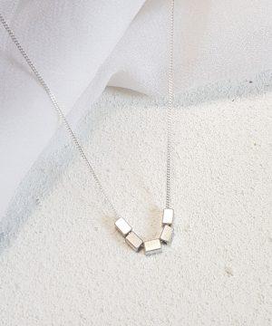Silver Quin Geometric Necklace
