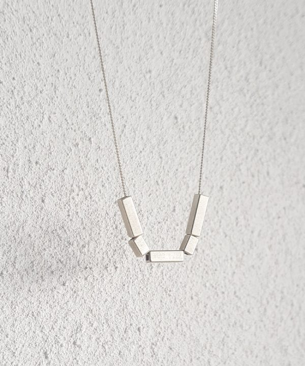 Mixed Quin Silver Geometric Necklace