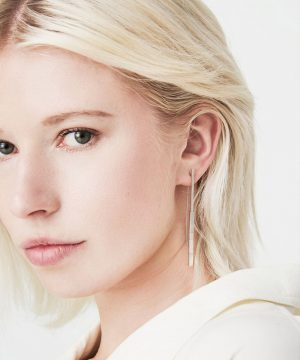 Silver Drop Mismatching Geometric Earrings