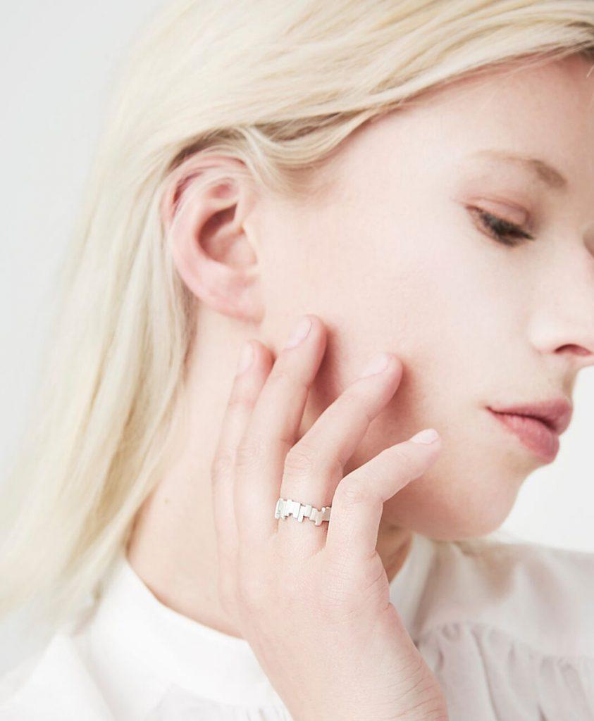 Modular Silver Ring Chloe Solomon Jeweller