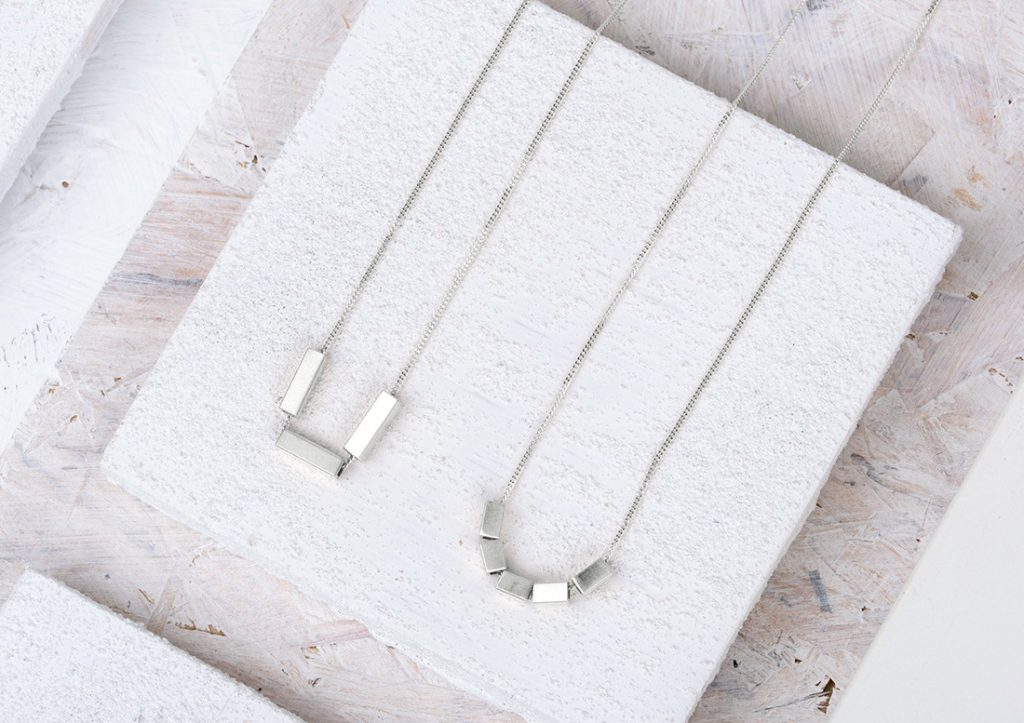 Triple and Quin Bar Geometric Necklace