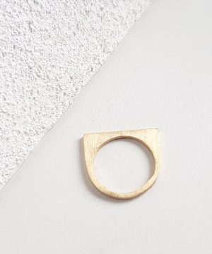 Tiny Geometric Yellow Gold Stacking Ring Chloe Solomon Bristol